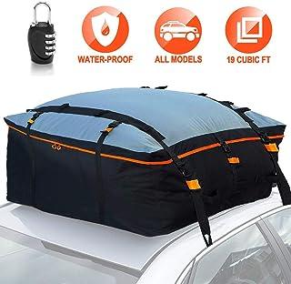 SUV N//Y Borsa da Tetto per Auto compatibili con//Senza Portapacchi furgoni scatole morbide per portabagagli da Tetto Impermeabili 350L con 8 Cinghie rinforzate per Tutte Le Auto