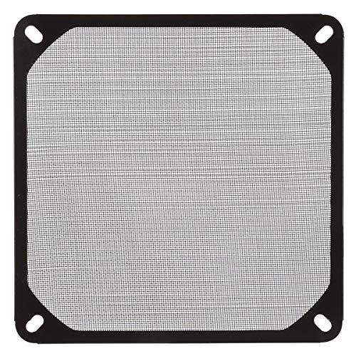 ILS – stofafdekking van aluminium met ventilator voor filter van de ventilator, zwart, 14 cm