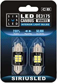 SiriusLED Extremely Bright 400 Lumens 3020 Chipset Canbus Error Free LED Bulbs for Interior Car Lights License Plate Dome ...