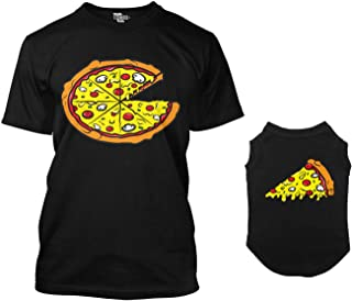 Pizza Pie/Pizza Slice Matching Dog Shirt & Owner T-Shirt