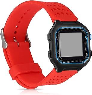 kwmobile Pulsera Compatible con Garmin Forerunner 25 (L - 40 x 47 x 13.9 mm) - Brazalete de Silicona en Rojo sin Fitness Tracker