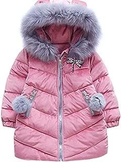Girls' Puffer Down Coat Winter Jacket Parka Down Coat Overcoat with Fur Hood