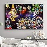 KWzEQ Cartel de Pintura de Pared de Lienzo Anime Boy Wall Art Poster Imagen Dormitorio decoración del hogar,Pintura sin Marco,60X90cm