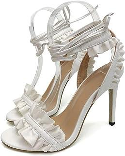 2d99c5905fe9 Women High Heel Sandals Sexy Buckle Thin Heels Summer Catwalk Show Designer  Shoes Women Wedding Sandals