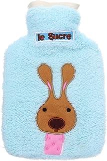 TT WARE 21x14cm Portable Hot Water Bottle Bag Creative Cute Cartoon Rabbit Hand Warmer-Blue