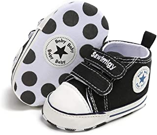 Save Beautiful Baby Girls Boys Canvas Sneakers Soft Sole...