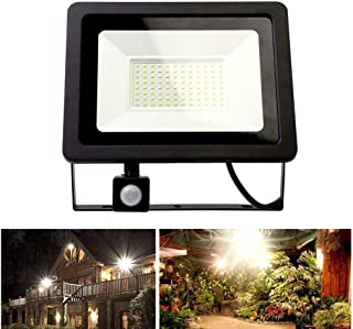 LED Floodlight, 100W Security Lights Outdoor with RIR Motion Sensor, IP66 Waterproof Super Bright 3000K Warm White Outdoor...