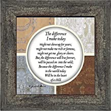 Crossroads Home Décor The Difference I Make Today, Teacher Gifts, Parents Gifts, 6x6 75527BW
