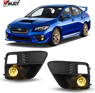 Winjet WJ30-0411-12 OEM Series for [2015-2017 Subaru WRX] Yellow Driving Fog Lights + Switch + Wiring Kit