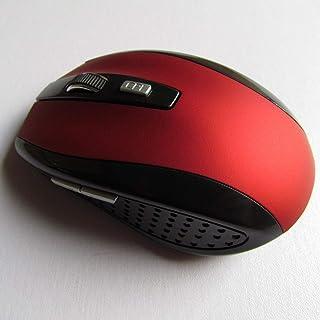 فأرة لاسلكية 2.4 جيجا بايت متينة فأرة كمبيوتر بصرية 7500 فأرة مريحة للكمبيوتر المحمول العالمي أجهزة الكمبيوتر - لون أحمر J...