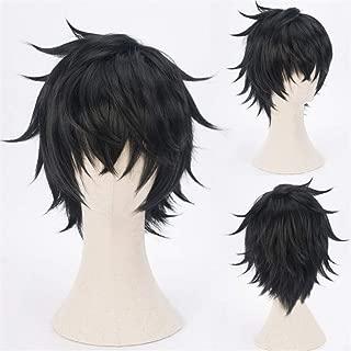 Xingwang Queen Anime Cosplay Wig Short Black Wig Men Boys Party Wigs