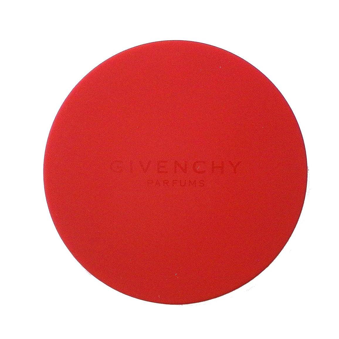 高尚なベーリング海峡悲観的(ジバンシー) GIVENCHY スライドミラー 鏡 赤 レッド ロゴ コンパクト ミニ 小さめ カバー ラバー 携帯用 化粧 メイク コスメ 海外限定