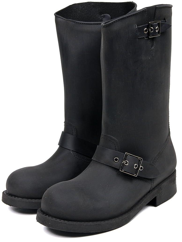 算術完璧秘書[セレブル] (パドル) Puddle 完全防水 ブラッシュド加工 エンジニア レインブーツ レディース ロング おしゃれ 長靴