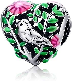 Charm oiseau pour pandora bracelet en argent sterling 925 our femmes filles pour bracelet Chaîne serpent Colliers
