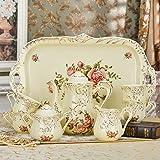 HAIZHEN Vajilla Tazas Set de taza de café Set de té europeo Set de café inglés Copa de cerámica con caja de regalo (8 piezas) Cerámica (Color : 1002)