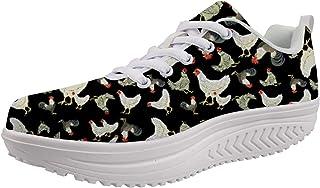 Woisttop, scarpe da donna con zeppa per aumentare l'altezza, comode scarpe da allenamento alla moda
