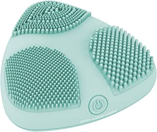 True Glow by Conair Skinpod Silicone Facial Cleansing Brush with Three Brush Zones and Sonic Advantage; Battery Operated