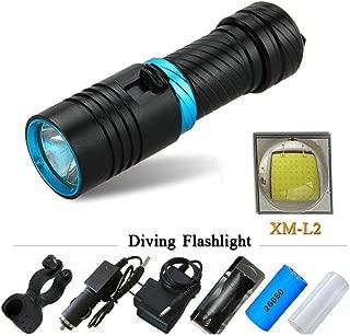 Diving Flashlight Led Underwater Flashlights Waterproof Portable Lantern Lights Dive Light Lamp Torch,B,Main Body Brown