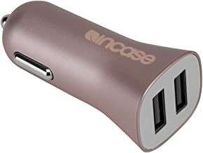 Incase High Speed Dual Car Charger with Lightning to USB Cable, Rose Gold