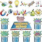 Set de 19 Tablones de Anuncios de Ciencia Mini Tablón de Anuncios de Pensar como un Científico Recorte de Ciencia de Multicolor Adorno de Laboratorio de Química Tablón de Anuncios de Vapor