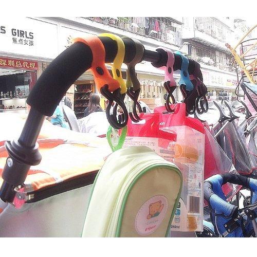 Universal Buggy Mummia clip passeggino Pram Shopping Bag gancio moschettone clip (2pcs / colore casuale)