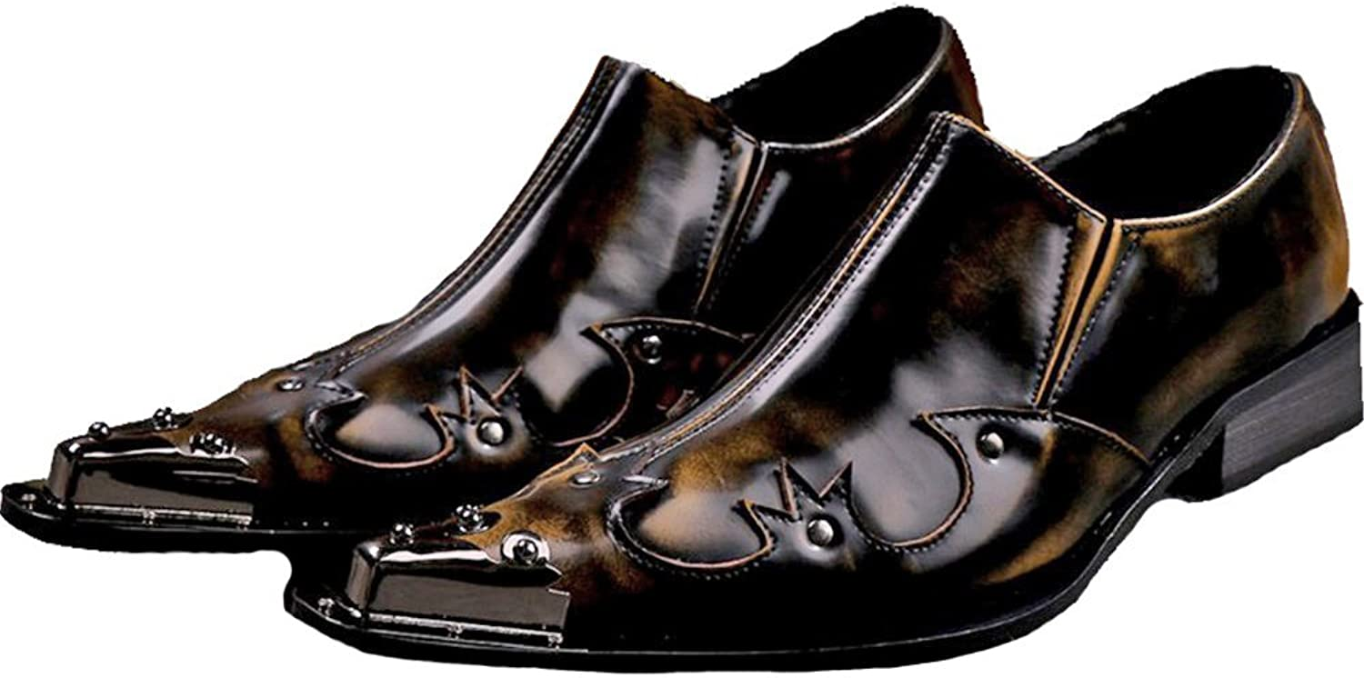 Cover Plus Size 5-12 New Brown Genuine Leather Dress Loafers Mens shoes