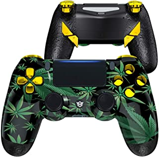 HexGaming Esports Edge Customized Controller for PS4 Elite Controller with 4 Paddles & Interchangeable Thumbsticks & Hair ...