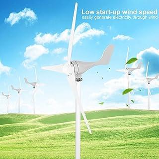 Zoternen Kit de Turbina Eólica 500W DC12V Generador de Viento de 3 Cuchillas de Aleación de Aluminio de 1,2m Ruido Bajo Generador de Electricidad