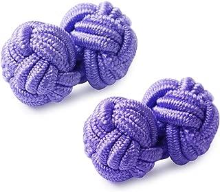Honey Bear Silk Knot Cufflinks - One Pair Mens Monochrome Set