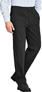 Mens Rugby Trousers Fully Elasticated Waist Formal Office Smart Casual Big Plus Size Pocket Dress Pants Straight Leg Botto...