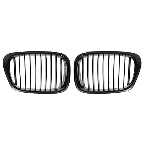 uxcell Car Matte Black Front Kidney Grille Grill For 97-03 BMW E39 5 Series