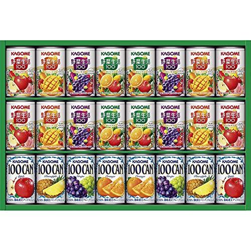 カゴメ フルーツ+野菜飲料ギフト KSR-30L【飲み物 つめあわせ 詰め合わせ 缶ジュース フルーツジュース 果物ジュース 野菜ジュース やさいジュース KAGOME おいしい 美味しい うまい】