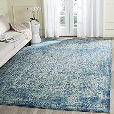 Safavieh Evoke Collection EVK256C Vintage Oriental Blue and Ivory Area Rug (8' x 10')