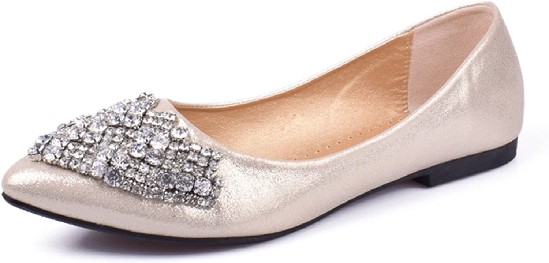 Reputation1 Flat Flats shoes Women Ballet Princess shoes for Casual Crystal Boat shoes Rhinestone Women Flats