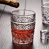 Home+ Vasos de Whisky Diseños Florales Whisky de la Taza del Vidrio Ultra Claro como Cristal Espesar sin Plomo de la Cerveza del Vino Whisky Principal Partido de la Barra de Boda Recipientes