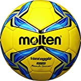 MOLTEN Beachsoccer - Balón de fútbol, Color Multicolor (Gelb/Blau/Silber), Talla 5