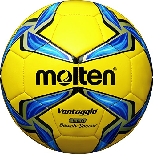 Molten, Pallone da Beach Soccer, Multicolore (Gelb/Blau/Silber), 5