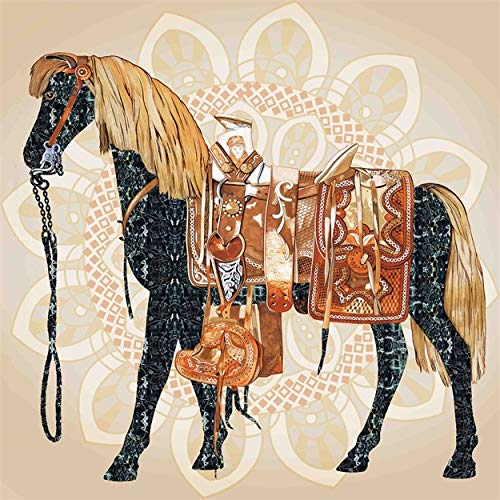 Mandala Pferd Leinwand Malerei Religion Print Poster Bilder für Wohnzimmer Dekoration Wohnkultur 60x60cm