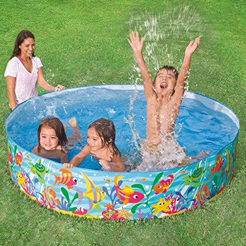inflatable toys Casa Uso Piscina para Niños Baño De Hidromasaje Redonda Piscina Kid Piscina para Adultos Plegable Duro Piscina Blue-183 * 38cm