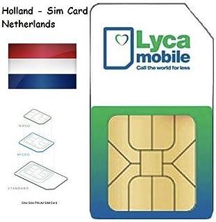 Plug & Play: Lycamobile NL Holland - Tarjeta SIM, prepago Lyca Mobile Netherlands, Incluye Free EU Roaming.