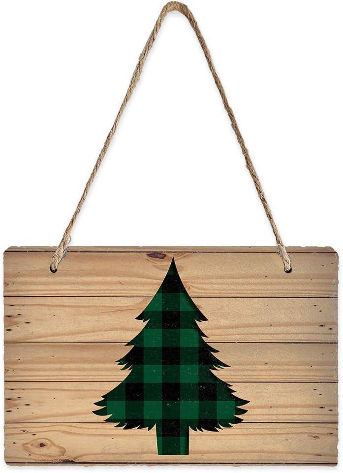 BABE MAPS Christmas Decorative Plaque, 7.9x5.1inch Slate Chalkbo