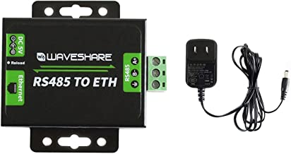 Waveshare RS485 to Ethernet Converter with High-Speed Low-Power High-Stability Up-gradable Easy to Communicate Between RS485 and RJ45 Port Ethernet
