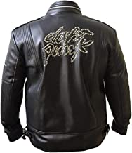 Men's Daft Punk Faddy Rox Electroma Hero Robot Rivet Men's Leather Jacket