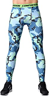 LANBAOSI Camouflage Compression Pants Workouts Tight Wicking Leggings