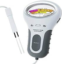 TIAS Probador de Calidad del Agua Medidor Digital Portátil 2 en 1 de Ph de Calidad del Agua Y Contenido de Cloro Cl2 Monitor de Análisis de Calidad del Agua Cloro 1 2-1 7 Ppm Ph 7 2-7
