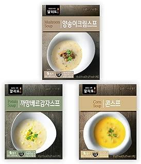 CALIDO Instant Soup Mix, 3 Flavors, 2.1oz per box with 3 Sachets Each, Mushroom Cream