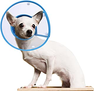 PETBABA Cat Cone Collar in Recovery, Clear Elizabethan Not Block Vision, Soft Padded E-Collar Protect Neck, Suitable Kitten Puppy Dog Pet in Surgery Remedy Grooming