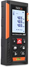 Telemetro Laser Distanziometro Classico, Tacklife HD40 in M/In/Ft con 2 Bolle d'aria e Funzione Muto, 4 Modalità di Pitagora Misuratore Precisa di Distanza, Superficie, Volume e Misura Continua