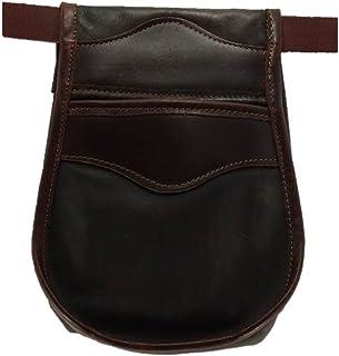 comprar comparacion CAZA Y AVENTURA Una Bolsa de ojeo-Bolsa portacartuchos en Cuero, para Llevar en el cinturón. para 50 Cartuchos