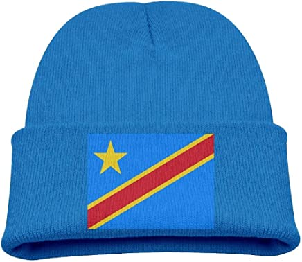 liu xiong Flag of The Republic of The Congo Kid's Hats Winter Funny Soft Knit Beanie Cap Children Unisex